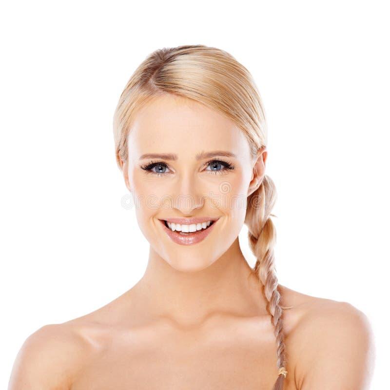 Schoonheidsportret van blonde vrouw royalty-vrije stock afbeelding