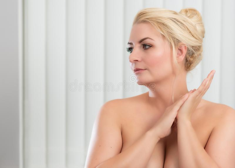 Schoonheidsportret voor huidverzorging stock fotografie