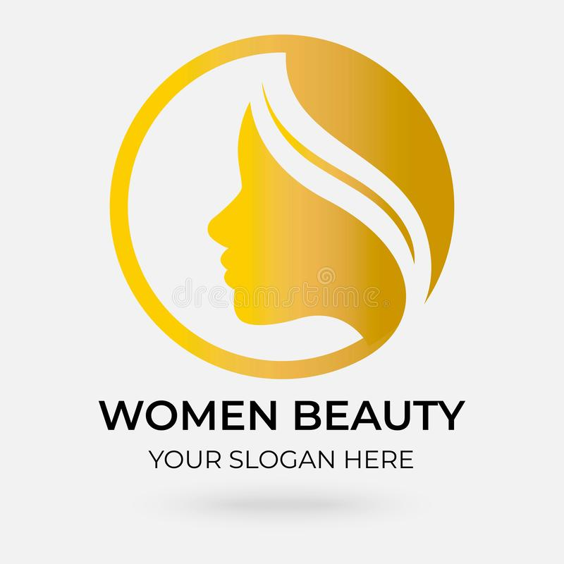 Schoonheidssalon Logo Design royalty-vrije illustratie