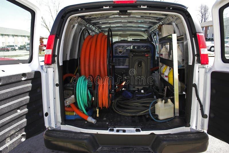 Schoonmakende bestelwagen 4 van het tapijt stock afbeeldingen