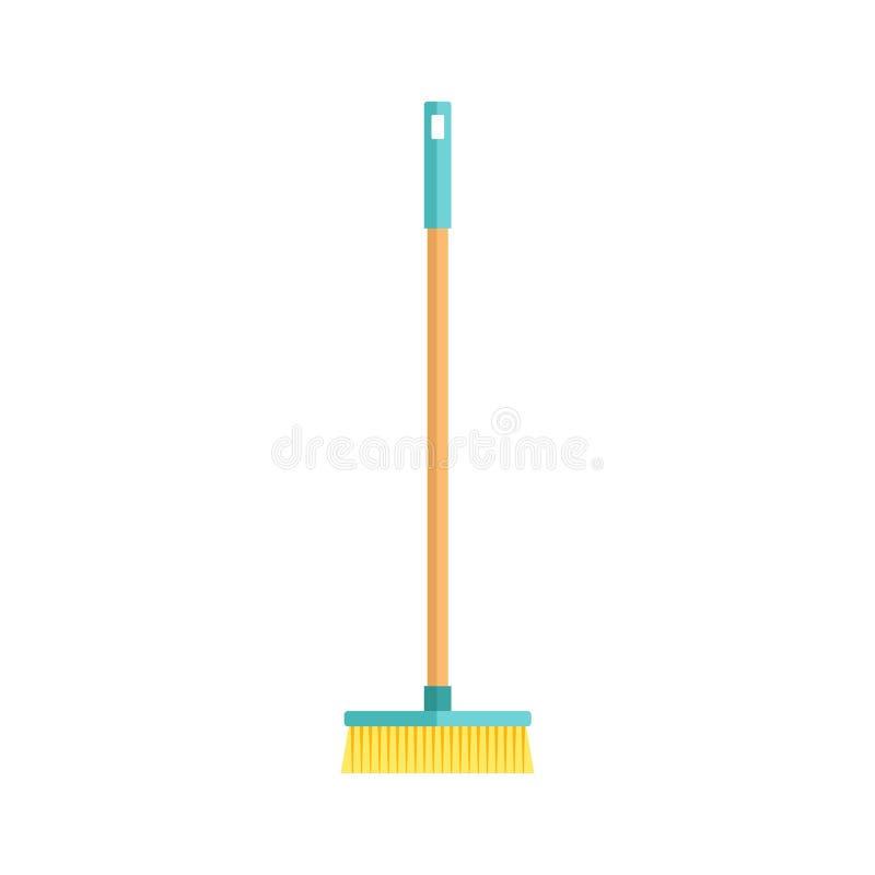 Schoonmakende het hulpmiddel vlakke vectorillustratie van de huishoudelijk werkwas royalty-vrije illustratie