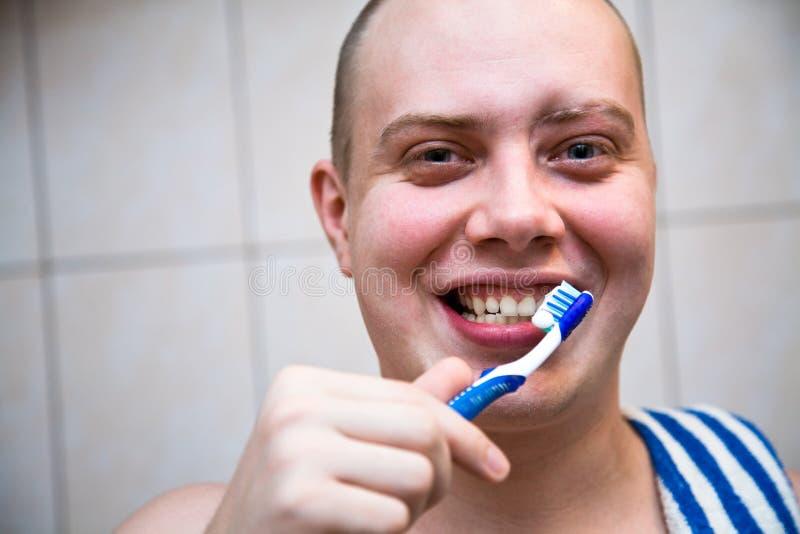 Schoonmakende tanden stock foto