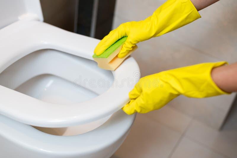 Schoonmakende toiletzetel royalty-vrije stock afbeelding
