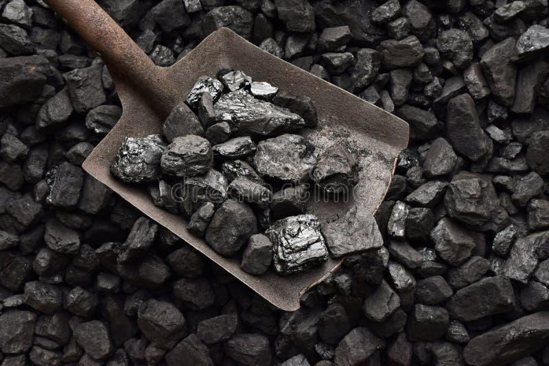 Schop en steenkool stock fotografie