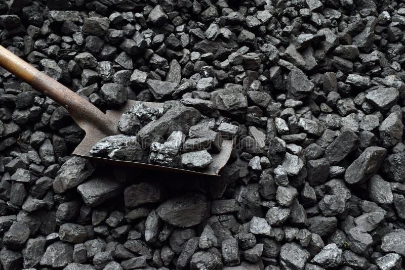 Schop en steenkool royalty-vrije stock foto