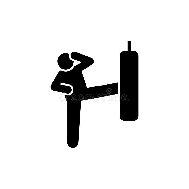 Schop, het in dozen doen, mens, geschiktheid, gymnastiekpictogram Element van gymnastiekpictogram Grafisch het ontwerppictogram v royalty-vrije illustratie