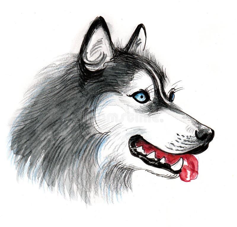 Schor hond royalty-vrije illustratie