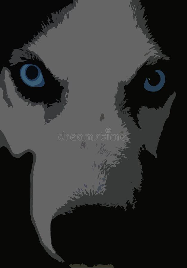 Schor hond vector illustratie