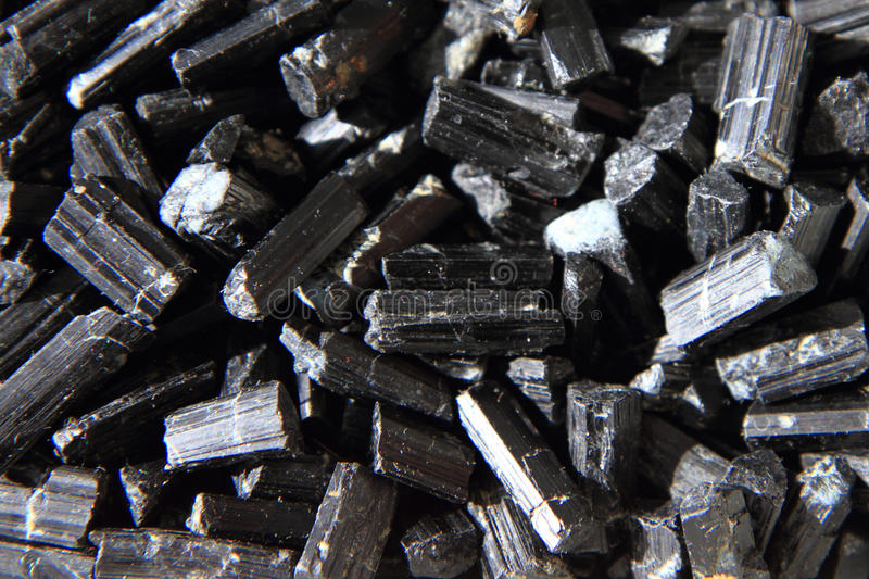 Schorl mineral background royalty free stock image