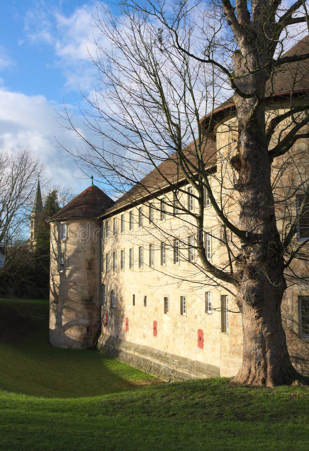 Schorndorf slott - I - Wuerttemberg - Tyskland royaltyfria foton