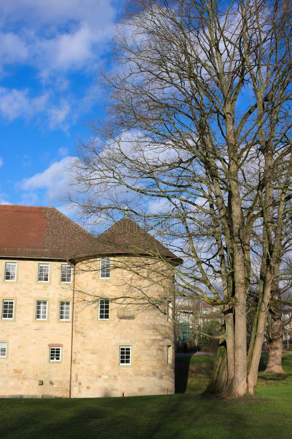 Schorndorf slott - IV Wuerttemberg - Tyskland fotografering för bildbyråer
