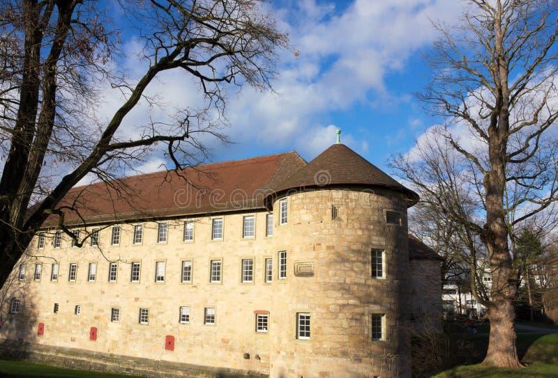 Schorndorfkasteel - III - Wuerttemberg - Duitsland stock fotografie