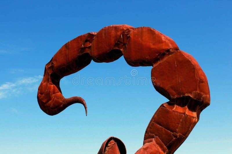 Schorpioenbeeldhouwwerk, het Park van de de Woestijnstaat van Anza Borrego, Californië stock afbeeldingen