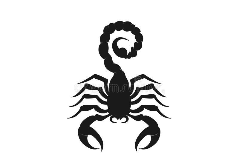 Schorpioenpictogram geïsoleerd vectorsilhouetbeeld van wild dier stock illustratie