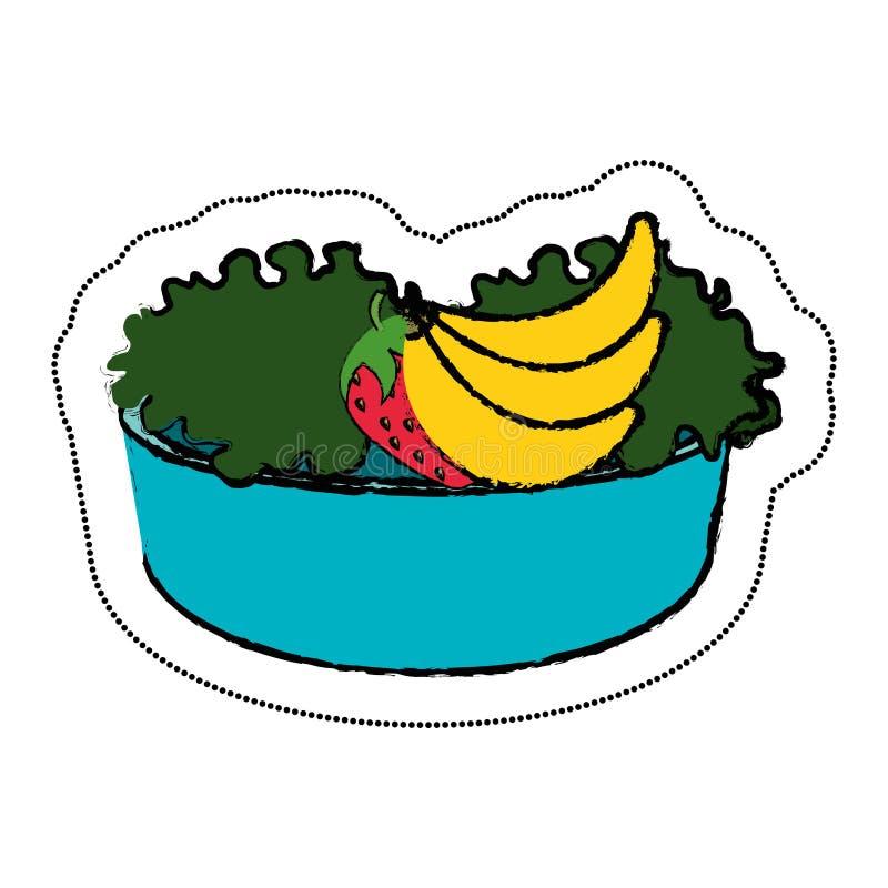 schotel met veganistvoedsel stock illustratie