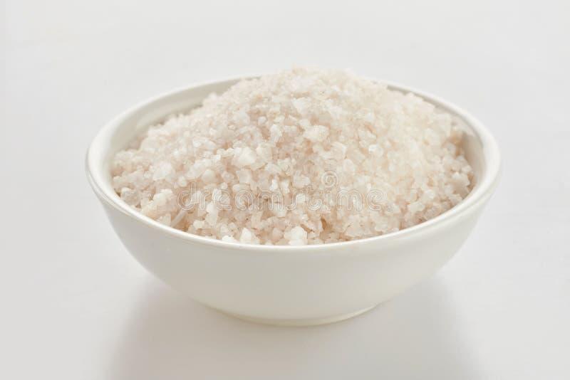 Schotel van het zout van grondhimalayagebergte over wit stock afbeelding