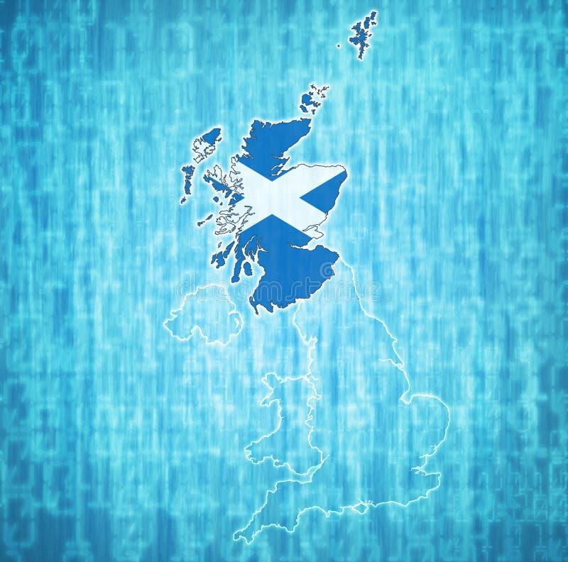 Schotland op de politieke kaart van het verenigd koninkrijk stock illustratie
