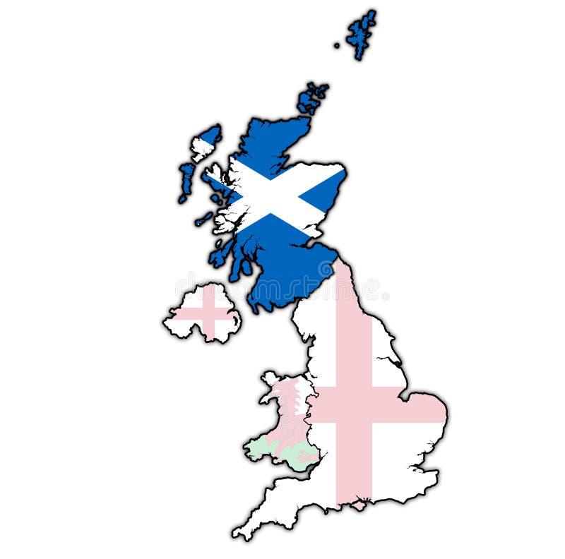 Schotland op de politieke kaart van het verenigd koninkrijk vector illustratie