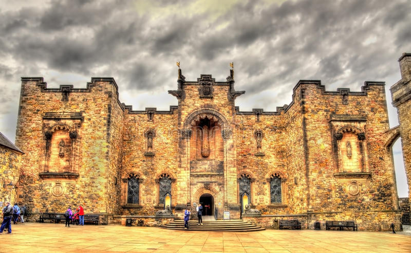 Schots Nationaal Oorlogsgedenkteken in Edinburgh royalty-vrije stock fotografie