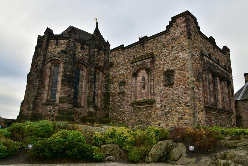 Schots Nationaal Oorlogsgedenkteken, het kasteel van Edinburgh stock foto