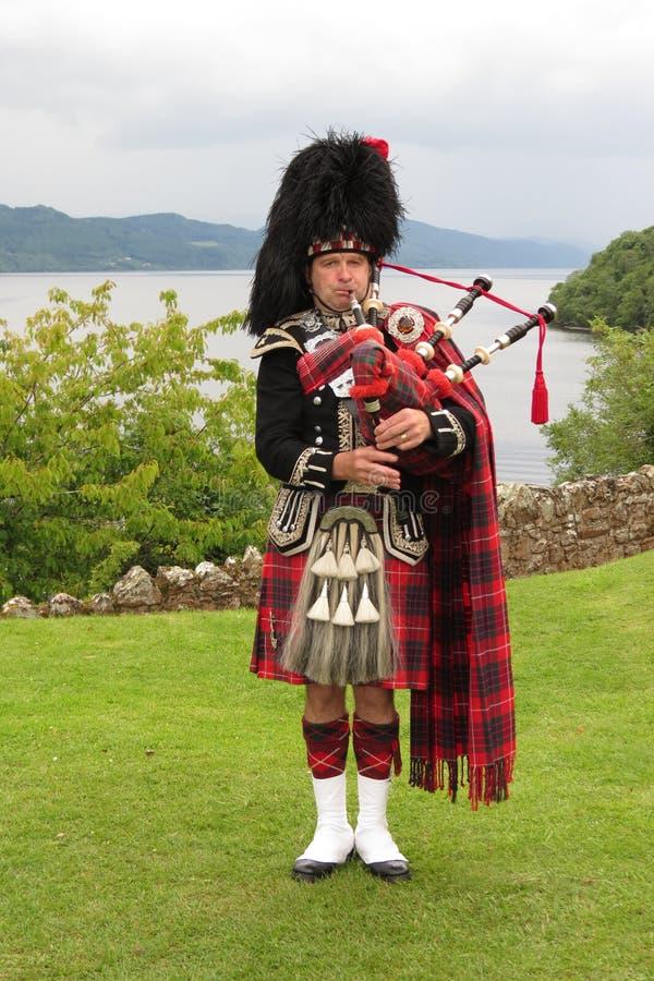 Schotse Bagpiper stock foto