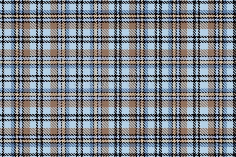 Schotse cel Naadloos vectorkooipatroon repeating Achtergrond voor een uitnodigingskaart of een gelukwens royalty-vrije illustratie