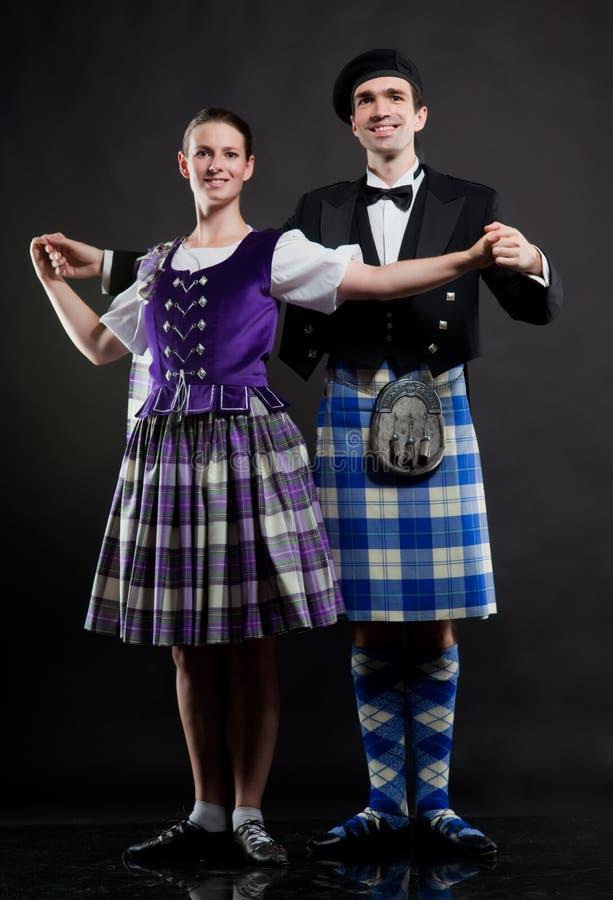 Schotse dans royalty-vrije stock afbeeldingen