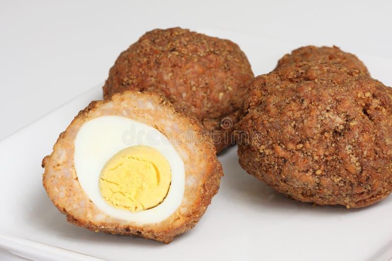 Schotse eieren royalty-vrije stock afbeelding