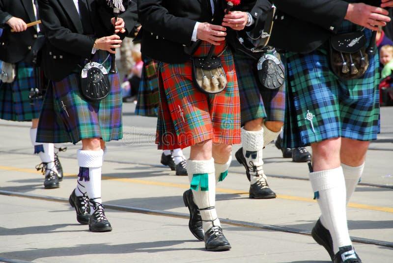 Schotse het marcheren band royalty-vrije stock foto's