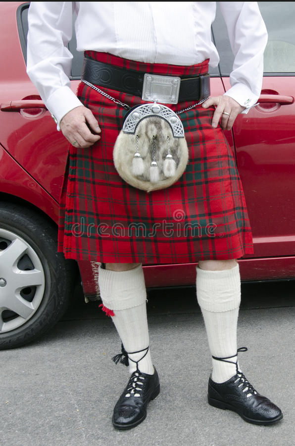 Schotse kilt stock fotografie