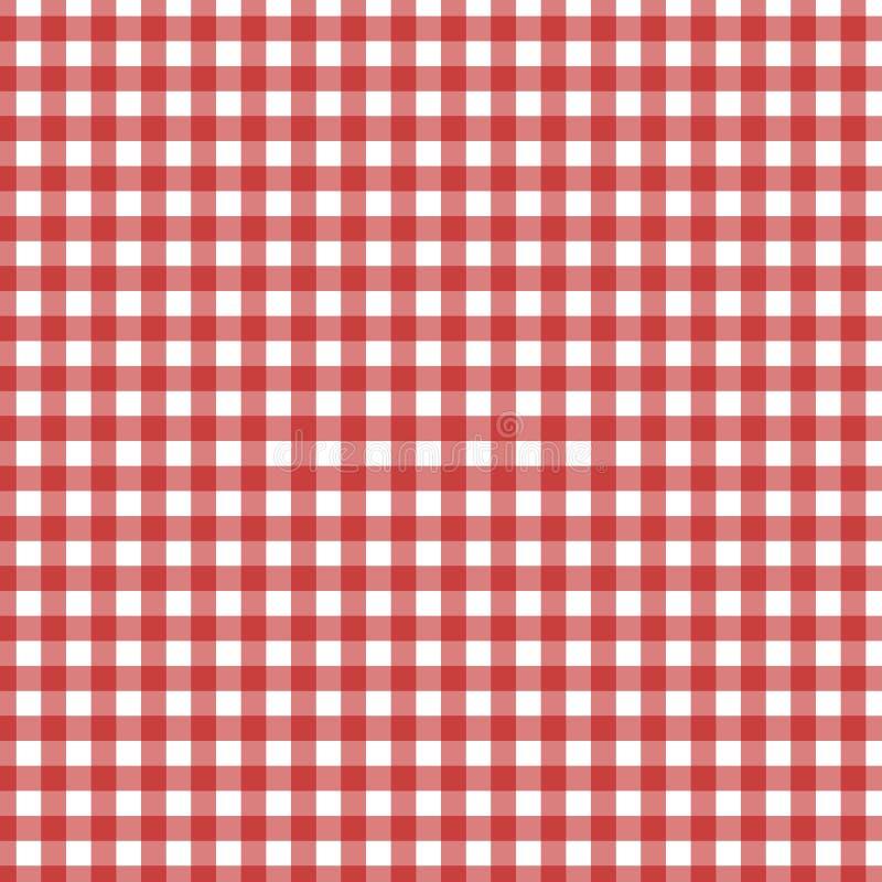 Schotse kooi, rode Keltisch Schotse rode geruite achtergrond Schots patroon Vector illustratie royalty-vrije illustratie