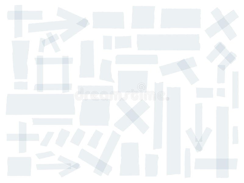 Schotse, plakbandinzameling, verschillende die groottestukken op witte achtergrond worden geïsoleerd Beeldverhaal polair met hart vector illustratie