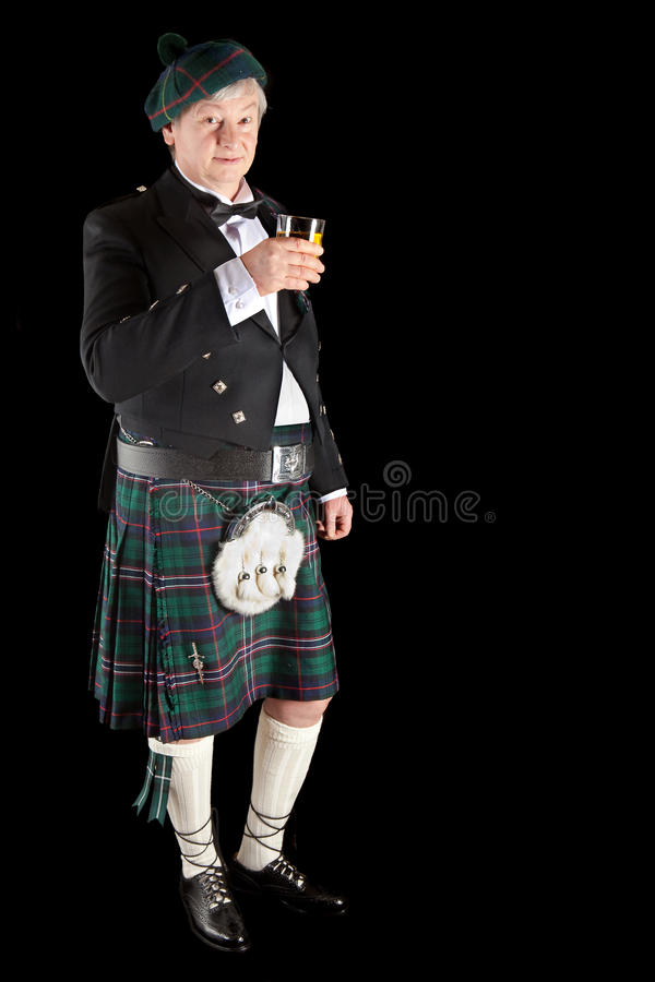 Schotse toost met wisky stock foto's