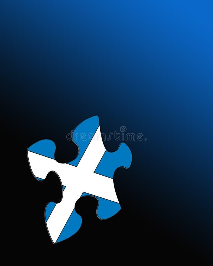 Schotse vlag stock illustratie