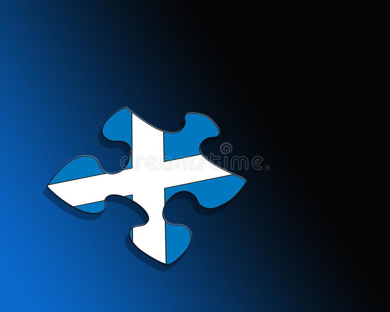 Schotse vlag vector illustratie