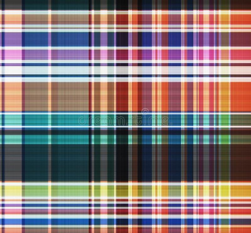 Schottenstoff, nahtloses Muster des Plaids Textildesign Kleidungsmuster Tapete, Packpapier, Gewebe Modeillustrationshintergrund lizenzfreie abbildung