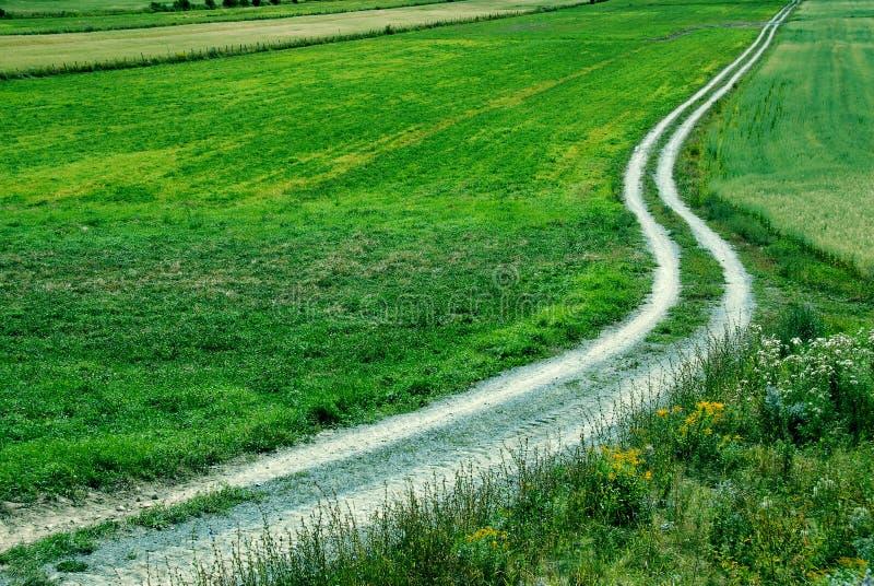 Schotterweg stockbild