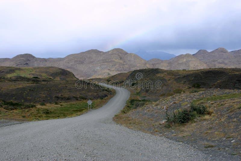 Schotterweg in Chile lizenzfreies stockfoto