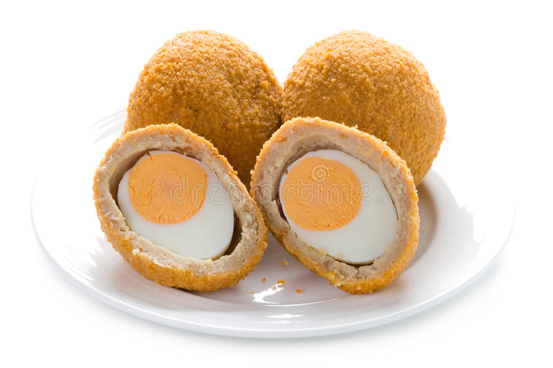 Schottische Eier getrennt stockbilder
