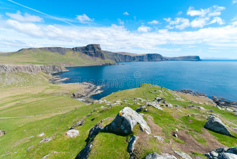 Schottische Küstenlinie stockbild
