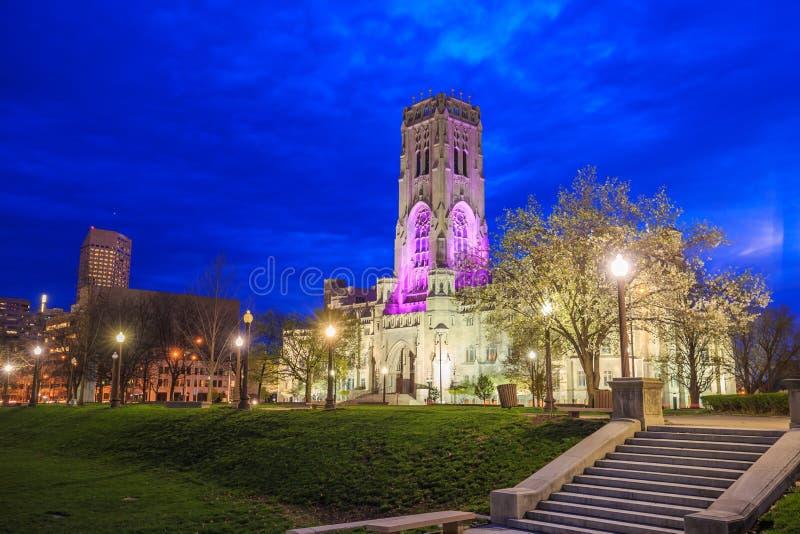 Schottische Ritus-Kathedrale in im Stadtzentrum gelegenem Indianapolis lizenzfreies stockbild