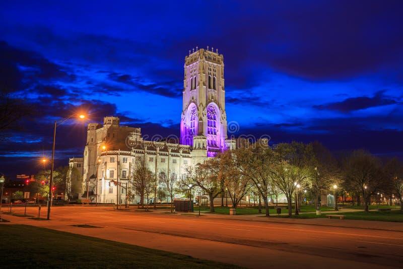 Schottische Ritus-Kathedrale in im Stadtzentrum gelegenem Indianapolis lizenzfreies stockfoto