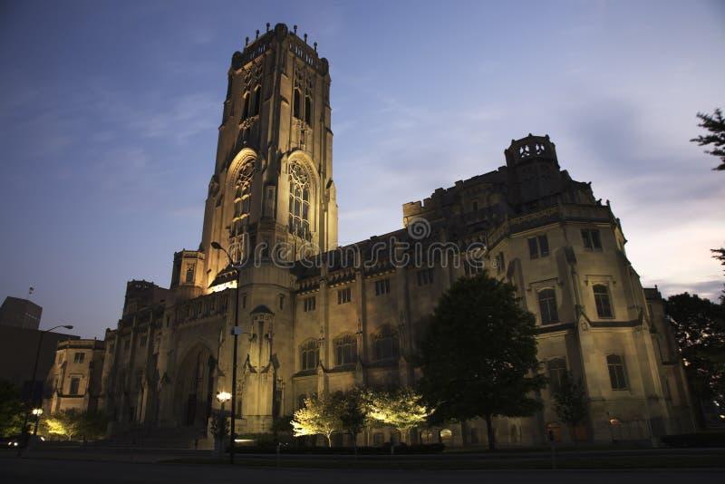 Schottische Ritus-Kathedrale Indianapolis lizenzfreie stockfotos