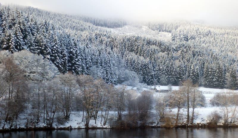 Schottische Winterlandschaft stockfoto