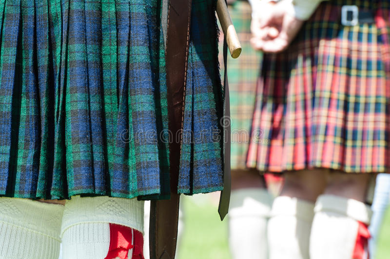 Schottischer Kilt stockfoto
