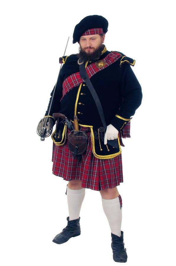 Schottischer Krieger stockfotos