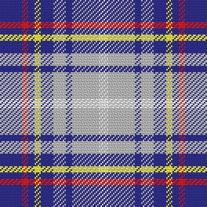 Schottischer Schottenstoff des nahtlosen Musters des Vektors, Staat Nevada stock abbildung