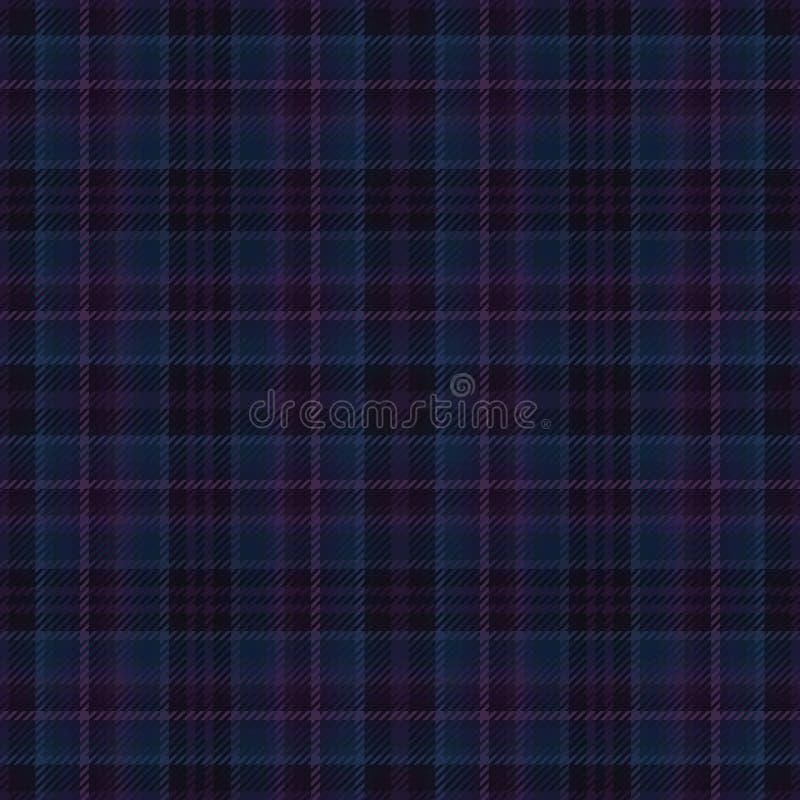 Schottischer Schottenstoffstoff des Gewebeplaids Textilmaterial lizenzfreie abbildung