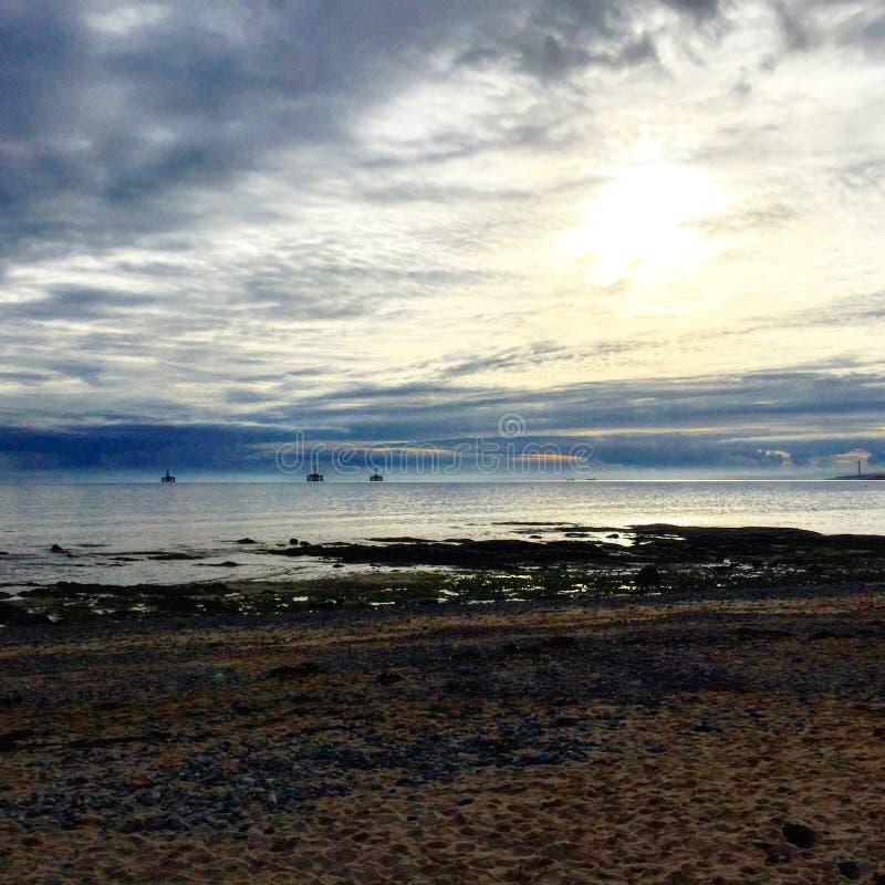Schottischer Strand stockbild