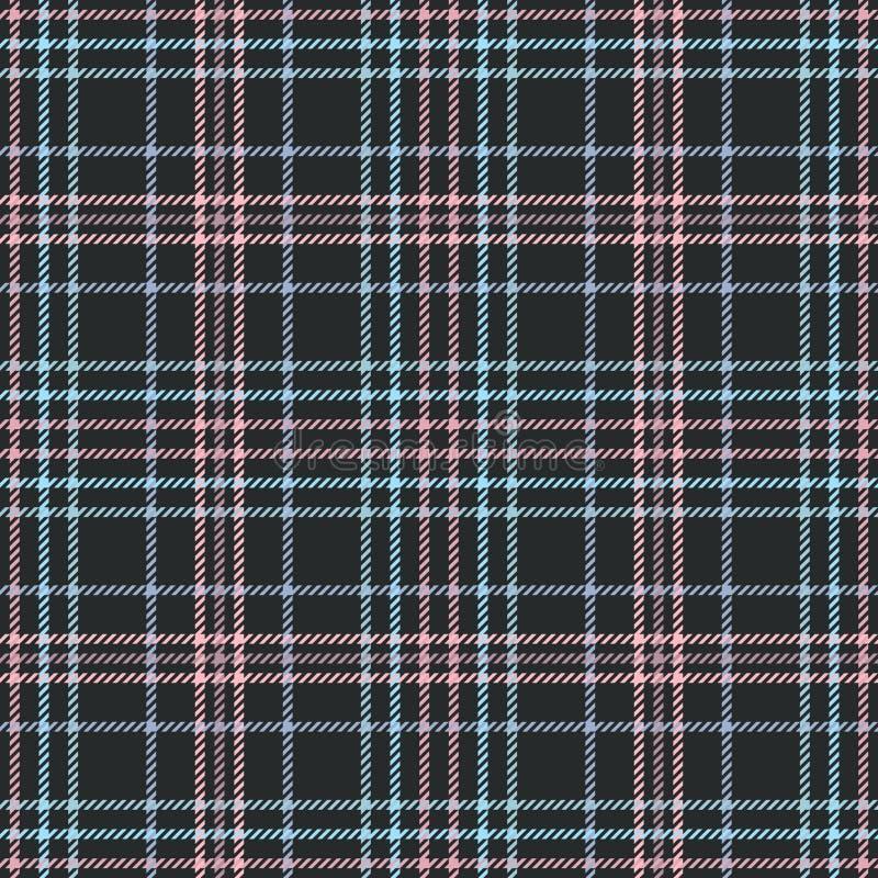 Schottisches Gewebe des Plaids und Schottenstoffmuster, britischer Kilt stock abbildung